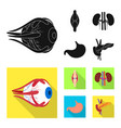 isolated object of biology and scientific symbol vector image vector image