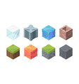 isometric landscape cubes set play formations vector image vector image