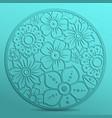 laser die die cutting flowers in a circle vector image