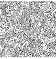 letters abstract decorative doodles seamless vector image