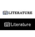 logo for literature school subject vector image vector image