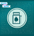 matchbox and matches icon on a green background vector image