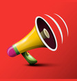 megaphone 3d on red background loudspeaker symbol vector image