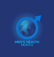 mens health month logo icon vector image