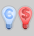 money bulb vector image vector image