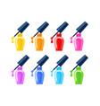 nail polishes set 8 bright colors vector image
