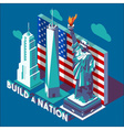 NYC Monuments Landmarks Isometric vector image vector image