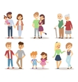 People couple relaxed cartoon vector image vector image