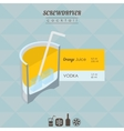 Screwdriver cocktail flat style isometric vector image vector image