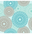 Seamless Pattern Ornamental round lace vector image vector image