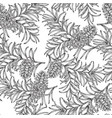 seamless pattern with hand drawn pine cones and vector image vector image