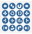 set arrows icons vector image vector image
