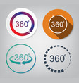 set of 360 degrees vector image vector image