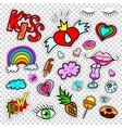 Set of Fashion patch badges stickers kit vector image vector image