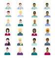 Set of people avatars profession professional vector image vector image