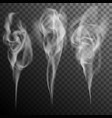 set of realistic cigarette smoke waves eps 10 vector image vector image