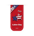 Sign labor day on white background