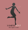 silhouettes dancing jazz or swing-04 vector image vector image