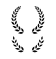 simple laurel wreath vector image