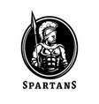 spartan warrior in armor symbol logo vector image vector image