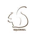 Squirrel icon vector image vector image