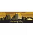 Sydney City Silhouette vector image vector image
