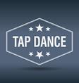 tap dance hexagonal white vintage retro style vector image vector image