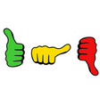 three thumbs icon for satisfaction level vector image