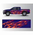 truck and vehicle car racing graphic for wrap