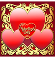 Valentines Ornamental Card vector image vector image