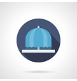 Water fountain flat color round icon vector image vector image