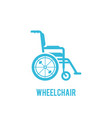 wheelchair in hospital flat design vector image