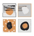 White abstract square cards hand drawn with brush vector image vector image