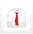 White Dress shirt vector image vector image