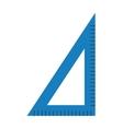 Corner ruler tool flat icon vector image