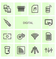 14 digital icons vector image vector image