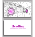 Abstract Creative concept background of 3d vector image vector image