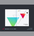 abstract double-page brochure design style with vector image vector image