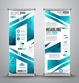 Advertisement roll up business flyer or brochure vector image vector image