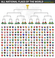 all flags world tournament bracket vector image