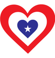 America Heart vector image vector image