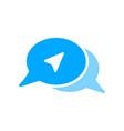 arrow bubble chat message send icon vector image