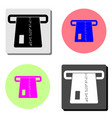 atm card slot flat icon vector image