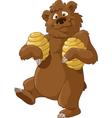 bear and honey vector image