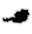 black silhouette of the country austria with the vector image vector image