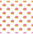 Cake pattern cartoon style vector image vector image