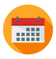 calendar business flat icon modern style vector image