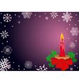 Christmas greeting card in dark purple vector image