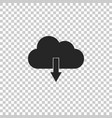 cloud download icon on transparent background vector image vector image