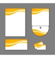 Corporate Identity elements isolated vector image vector image